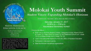 Molokai Youth Summit @ Kaunakakai Elementary School | Kaunakakai | Hawaii | United States