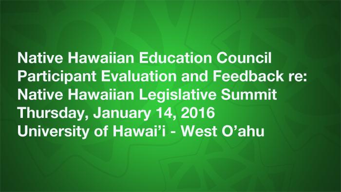 NHEC Participant Evaluation and Feedback Survey
