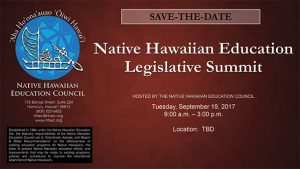Native Hawaiian Education Legislative Summit @ University of Hawai'i - West O'ahu | Kapolei | Hawaii | United States